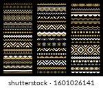 border  frame  brush line set.... | Shutterstock .eps vector #1601026141