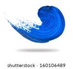 abstract blue wave brush stroke | Shutterstock . vector #160106489