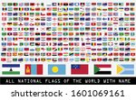 all national flags of the world ... | Shutterstock .eps vector #1601069161
