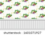 illustration  nice floral wall... | Shutterstock . vector #1601071927