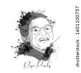 vector sketch of rosa parks  in ... | Shutterstock .eps vector #1601100757