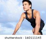 young man starting to run | Shutterstock . vector #160111145