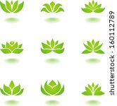 lotus icons | Shutterstock .eps vector #160112789