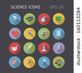 flat icons for science and...