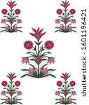 mughal floral motif vector art | Shutterstock .eps vector #1601196421