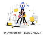 friendly team support vector...   Shutterstock .eps vector #1601270224