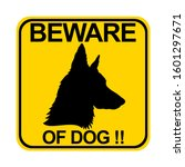 Countion Of Dog. Beware Of Dog...