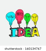 idea light bulb vector icon  | Shutterstock .eps vector #160134767
