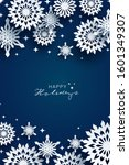 holiday snowflakes banner ... | Shutterstock .eps vector #1601349307