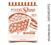 pastry shop fresh and tasty pie ... | Shutterstock .eps vector #1601401951