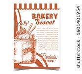 bakery sweet tasty natural... | Shutterstock .eps vector #1601401954