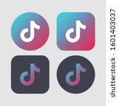 tik tok set icons. music  sound ...