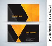 business card abstract... | Shutterstock .eps vector #160141724