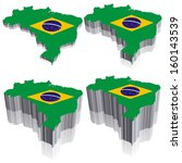 brazil vector map 3d | Shutterstock .eps vector #160143539