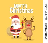 santa claus and christmas... | Shutterstock .eps vector #1601440651