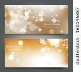 elegant christmas background... | Shutterstock .eps vector #160146887