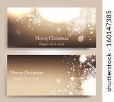 elegant christmas background... | Shutterstock .eps vector #160147385