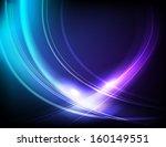 blue abstract elegant waves | Shutterstock . vector #160149551