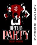 retro party design with old...