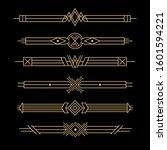 set of art deco dividers  ... | Shutterstock .eps vector #1601594221