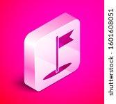 isometric flag icon isolated on ...