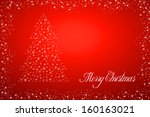 red background with christmas... | Shutterstock . vector #160163021