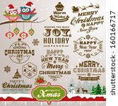 collection of christmas design... | Shutterstock .eps vector #160166717