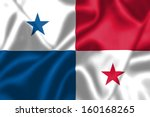 panama flag blowing in the wind.... | Shutterstock . vector #160168265