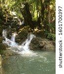 Small photo of Small waterfall affluent of river Cahabon at Alta Verapaz, Guatemala