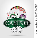 casino 1   poker winner | Shutterstock .eps vector #160174805