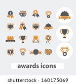awards icons set  vector | Shutterstock .eps vector #160175069