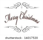 merry christmas phase with... | Shutterstock . vector #16017520