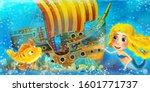 cartoon ocean scene and the...   Shutterstock . vector #1601771737