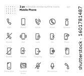 mobile phone outline vector... | Shutterstock .eps vector #1601781487