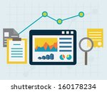 programming process and web... | Shutterstock .eps vector #160178234