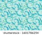 marine sea waves seamless... | Shutterstock .eps vector #1601786254