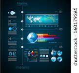 timeline to display your data... | Shutterstock . vector #160179365