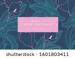 vintage card with calla lily...   Shutterstock .eps vector #1601803411