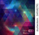 triangle background with galaxy | Shutterstock .eps vector #160182791