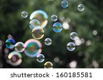 Soap Bubbles In Front Of The...