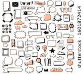 bullet journal doodles hand... | Shutterstock .eps vector #1601872414
