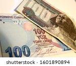 one hundred egyptian pound vs... | Shutterstock . vector #1601890894