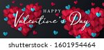 happy valentine's day banner.... | Shutterstock .eps vector #1601954464