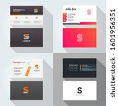 s letter logo professional... | Shutterstock .eps vector #1601956351