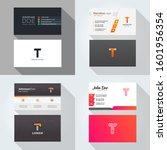 t letter logo professional... | Shutterstock .eps vector #1601956354