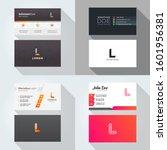 l letter logo professional... | Shutterstock .eps vector #1601956381