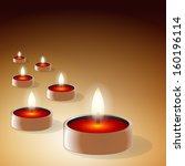 romantic candles background | Shutterstock . vector #160196114