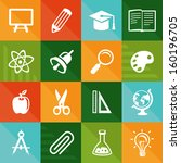 vector flat icons   education... | Shutterstock .eps vector #160196705