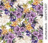 flower print. elegance seamless ... | Shutterstock .eps vector #1601971207