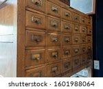 Old Vintage Wooden Library Car...